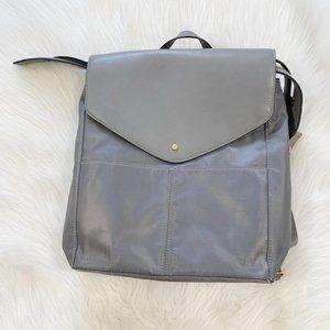 A NEW DAY Commuter Flap Gray Backpack